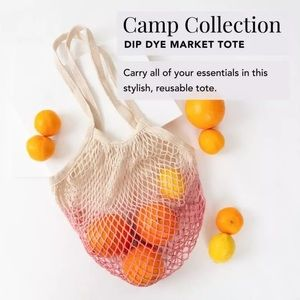 Camp Collection Dip Dye Market Tote in Pink Ombré